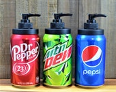Beer Can Soap Dispenser, Beer Soap, Refillable Soap Dispenser, Beer Gift, Dr Pepper, Mountain Dew, Pepsi, Man Gift, Father's Day
