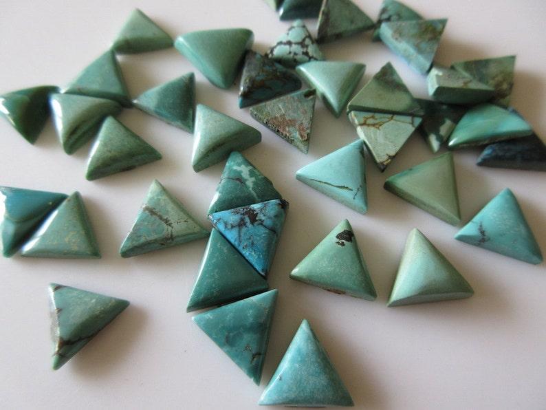 5 Pieces natural turquoise trillion shape cabochon gemstone