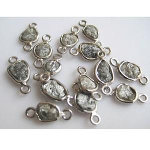 7mm Each Approx Single Loop Raw Diamond Connectors 925 Silver Connectors Diamond Connectors Uncut Diamond Brown Raw Diamonds 2 Pieces