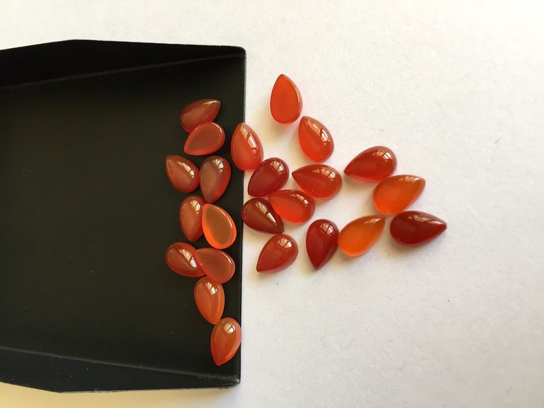 5mm Trillion Cabochon Red Onyx Loose Calibrated Gemstone MK-3 Details about  /Wholesale Lot !