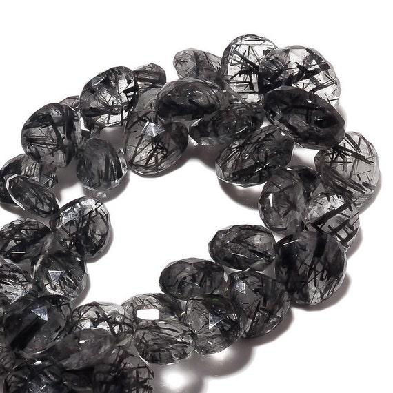 AAA Black Rutile Smooth Plain beads Quality Black Rutile Smooth Heart Shape Beads