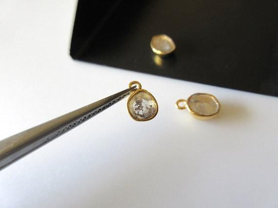 1 pièce 6mm Rose diamant tranche connecteur connecteur connecteur boucle argent or rempli de connecteurs en forme de bijoux de lunette, DDS432/1 aa00c4