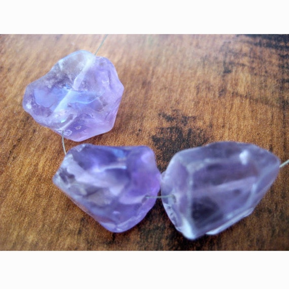 5mm to 10mm Small Amethyst Loose Gem Stone 25 Pieces Raw Rough Loose Natural Small Amethyst Gemstones BB478