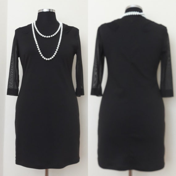 Original Handmade Vintage Dress 34 Sleeve Black Dress With Etsy