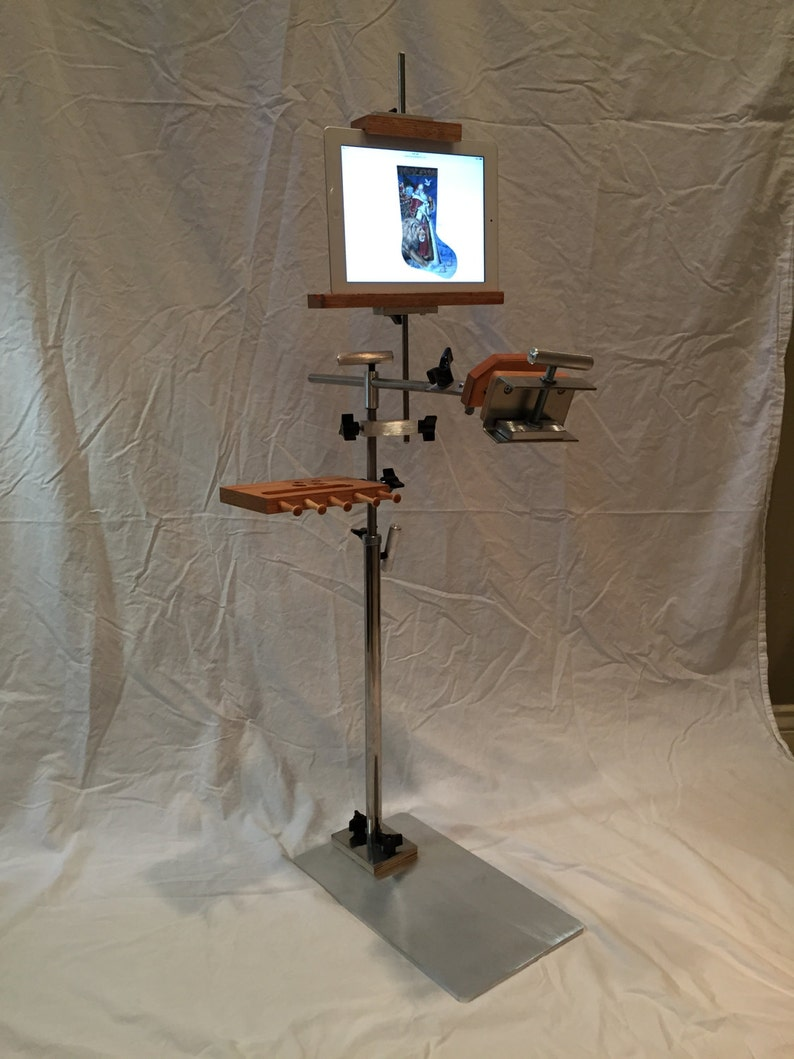 Stainless Steel Floor Stand with Tablet/Pattern Holder image 0