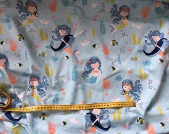 "Shirt fabric ""Mermaid at Heart"""