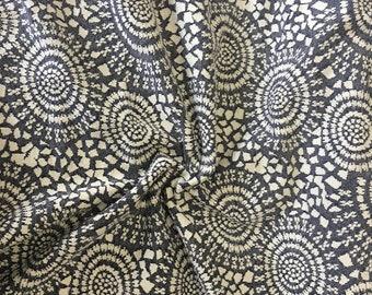 "Viscose fabric ""Cariacica"" dark blue, white"