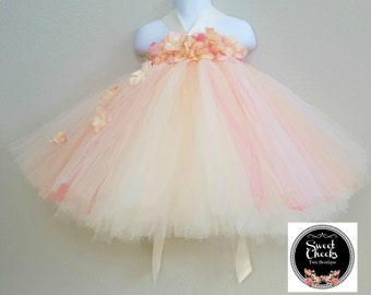 494779034 peach flower girl dress, fairy dress, peach tutu dress, tutu dress, fairy  costume, fairy photo shoot