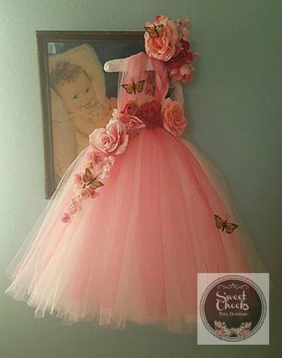 Pink flower girl dress pink fairy dress dress upfairy etsy image 0 mightylinksfo