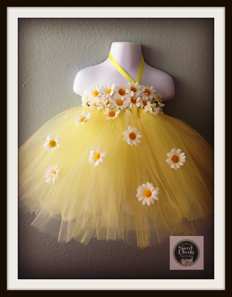 217c2f586dd8 Daisy flower girl dress fairy dress yellow tutu dress tutu
