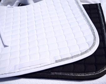 White Bling Dressage Pad