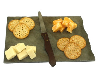 North Dakota Slate Cheese Board, Serving Tray, or Cutting Board- Personalized with Laser Engraving