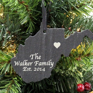 Glasses and Mustache Set Black Slate Christmas Ornament-Personalized with Laser Engraving