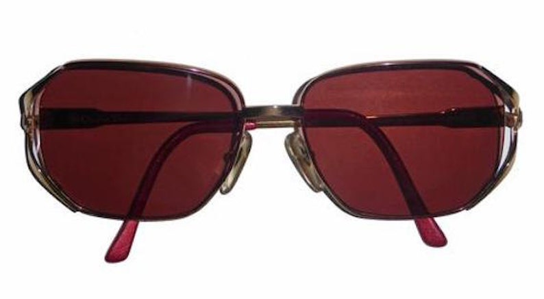 850bfd2a2f Vintage Christian Dior 135 Sunglasses Gold Frame Amber Rose