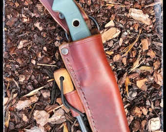 Leather Dangle Sheath for Benchmade 162 Bushcrafter Handcrafted Customizable Quality