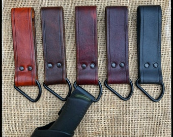 Leather Sheath Dangler Mora Knife - Deluxe Handmade Drop Dangle Loop