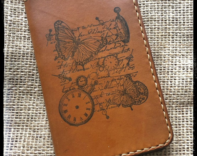 Featured listing image: Handcrafted Leather Field Notebook Cover - Made in USA