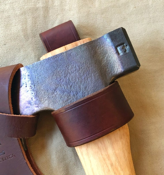 Handcrafted Leather Camp Axe Belt Loop Holder