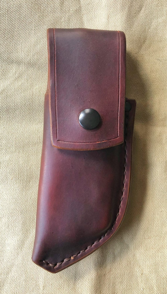 Handcrafted leather belt pouch fot Silky Pocketboy folding saw (Maker's Second)
