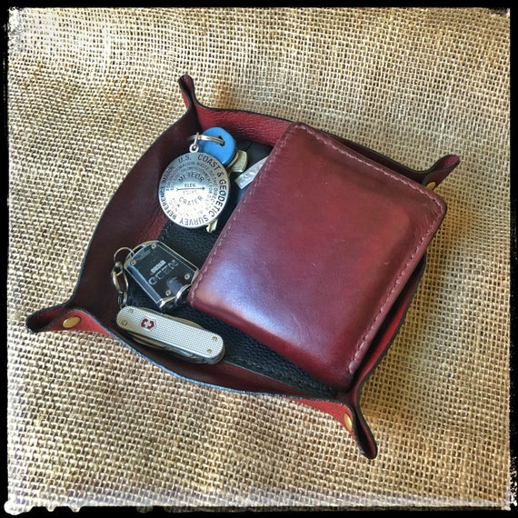 Leather Vanity Tray Organizer - Handcrafted in the USA