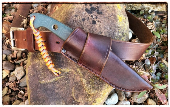 Leather Crossdraw Sheath for Benchmade 162 Bushcrafter - Handcrafted in the USA