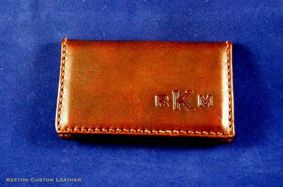 Personalized Handcrafted Leather Business Card Wallet Case