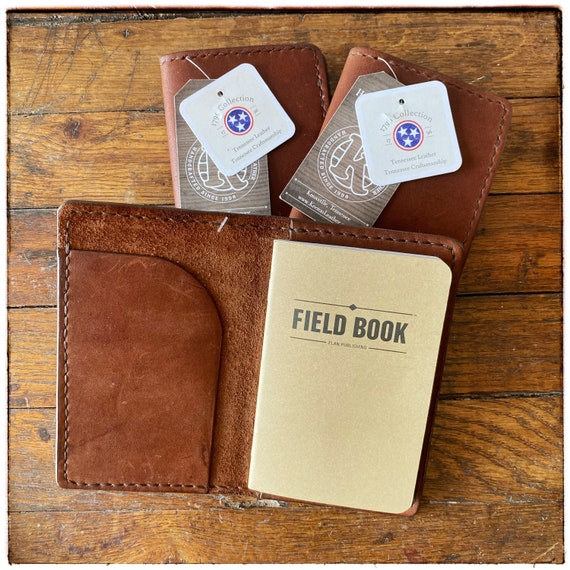 Leather Field Notebook Cover, Handcrafted in the USA