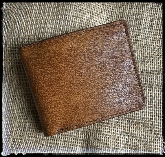 Handcrafted Bifold Leather Wallet - Shrunken Bison