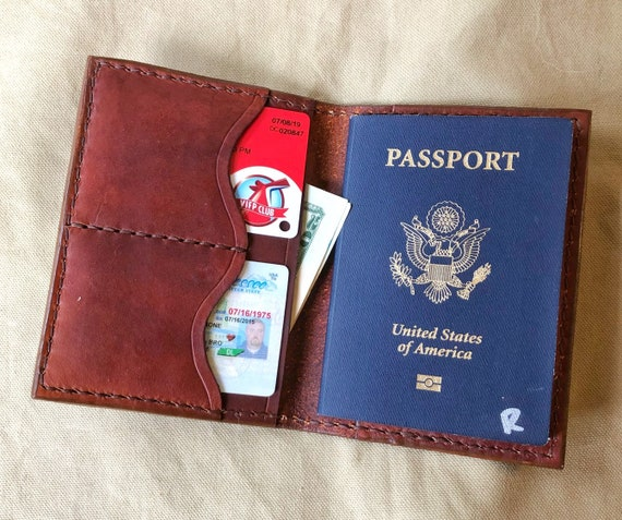 Handcrafted Leather Passport Wallet Cover