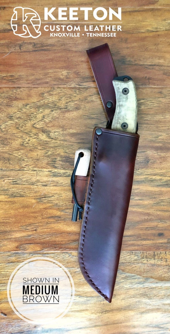 Handcrafted Leather Sheath for Ontario RAT 7 Knife