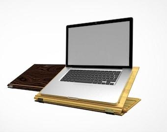 AdAR   High End Adjustable Laptop and Book Riser & Stand, Tech Accessory, Ergonomic Design, Birch, Handmade Locally Designed, Support