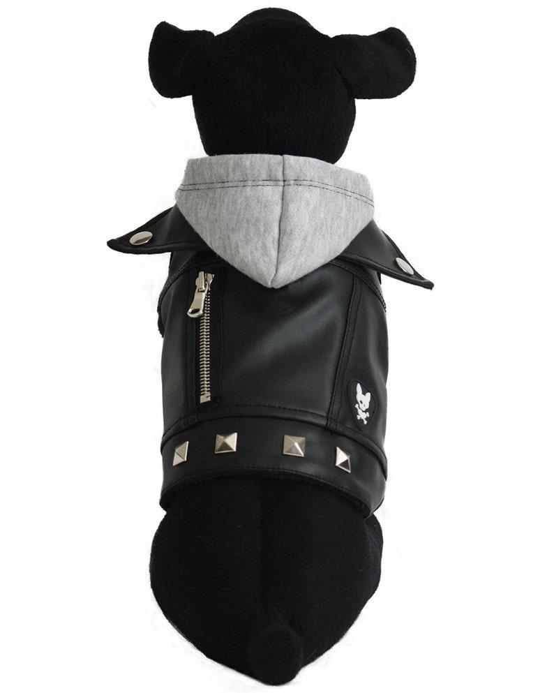 Vegan Leather Dog Jacket  CHARLIE-XS image 0