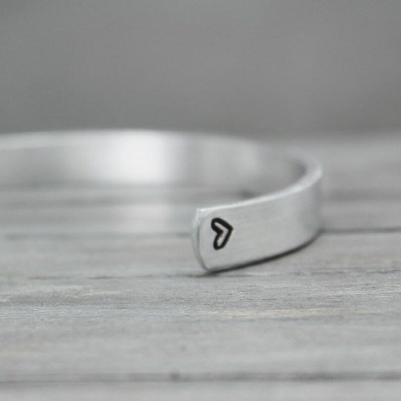 Hand Stamped Cuff Sorority Bracelet, Custom Sorority Jewelry No Regrets CuffSorority Cuff Sigma Kappa Cuff Hand Stamped Jewelry