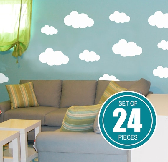 tiny clouds wall decals little clouds wall stickers | etsy