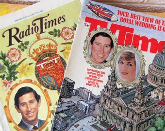 Royal Wedding Souvenir TV Guides. Charles and Diana. 1981 Royal Wedding Week TV Guides. Radio Times and TV Times, 25 - 31 July 1981.