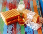 Handmade olive soap with goat milk and greek honey