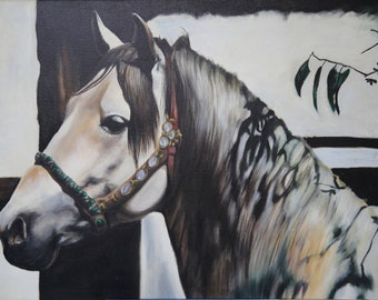 f9059e4663f white horse oil painting