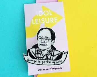 George Costanza Pin - Seinfeld Pin -  Boyfriend Present - Stocking Stuffer