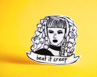 Cry Baby Pin - Beat It Creep - Wanda Woodward - John Waters - Stocking Stuffer