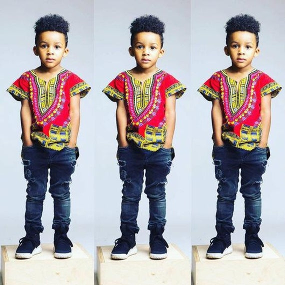 Kids Dashiki Shirt Kids Clothing Children Wesr African Etsy