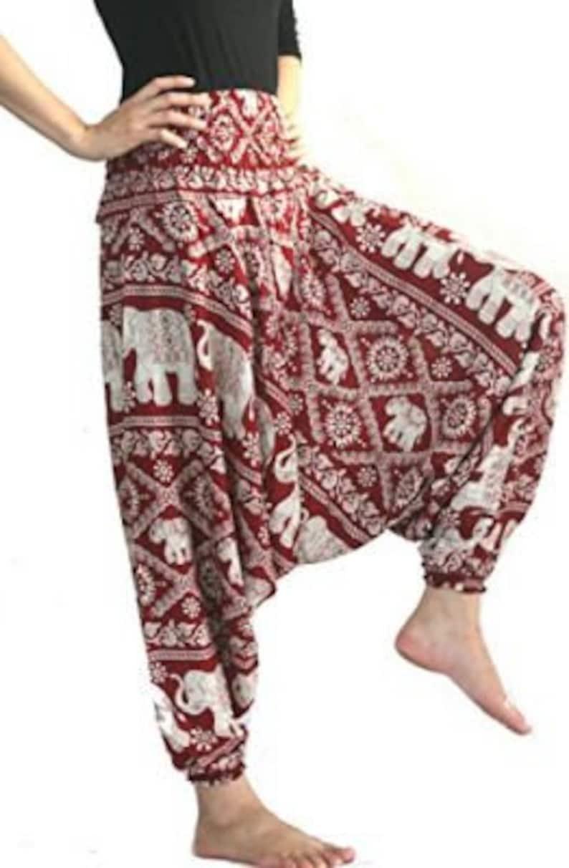 Women Dress pants unisex baggy Summer pants African Clothing and Fashion Wear Harem Pants African Rayon Jumpsuit Pants Hippie pants