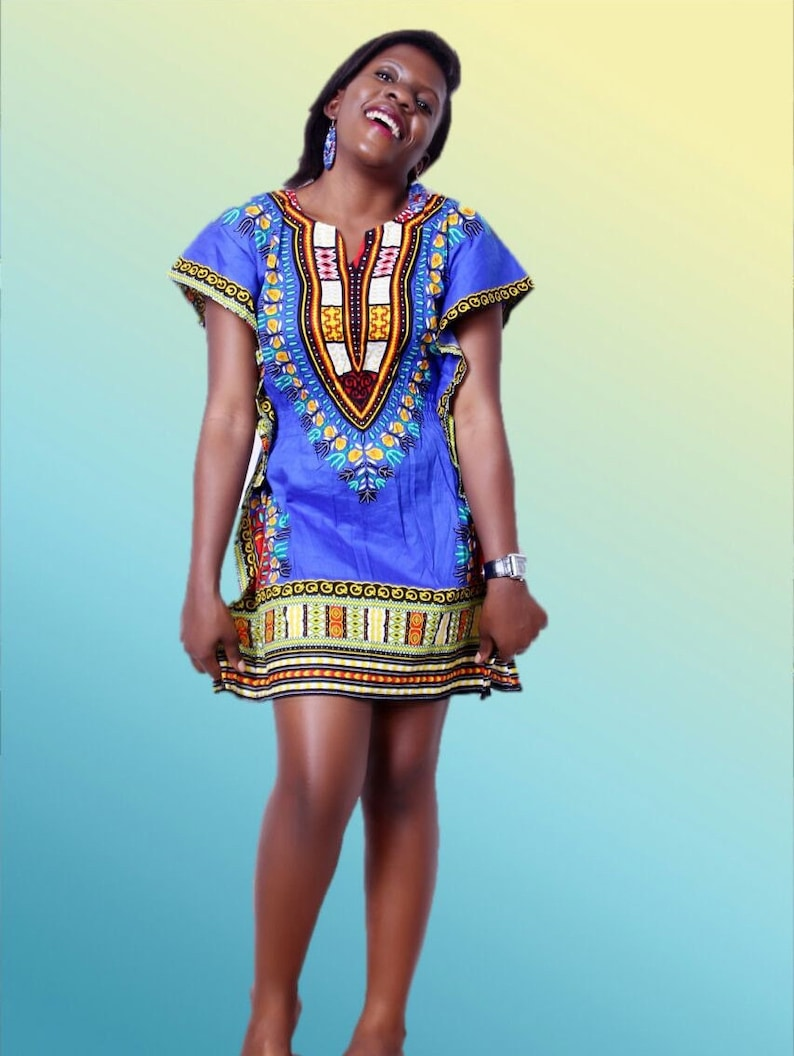 736eb2e3adba African Dashiki Dress Dashiki mini dress women wear