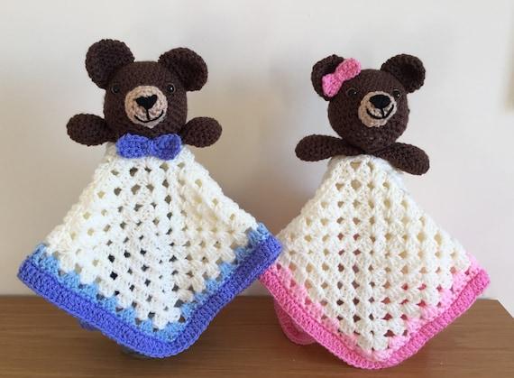 Items similar to Angel Bear Snuggle Blanket / Security Blanket ... | 419x570