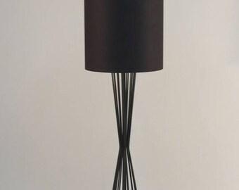 Handgemachte Stehleuchte Mit Trommel Zylinder Lampenschirm Aus Etsy