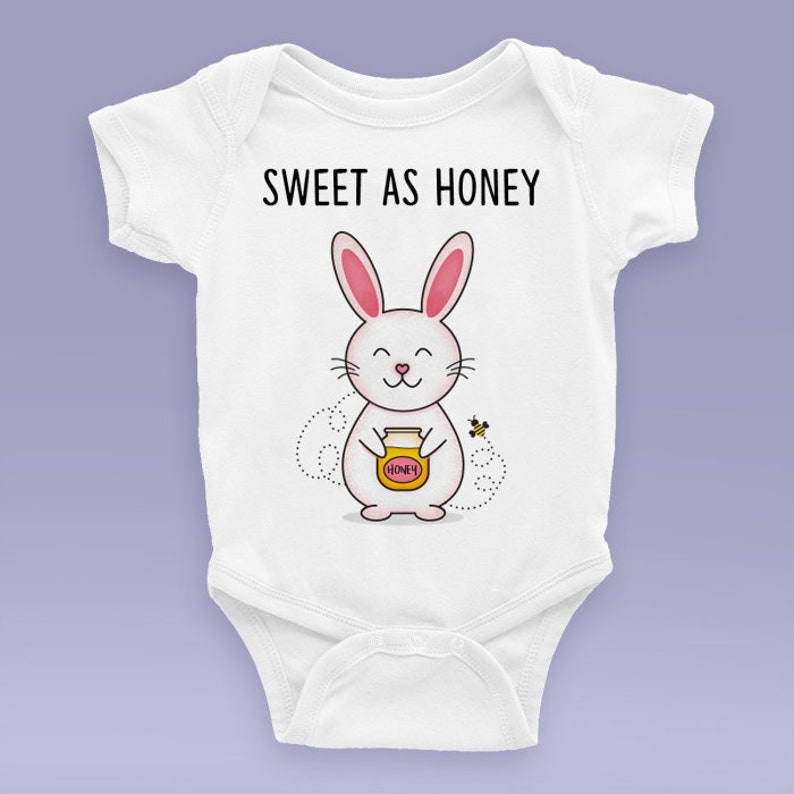0fddde07f477 Sweet As Honey Bunny Onesie   Bodysuit Cute Bunny Themed