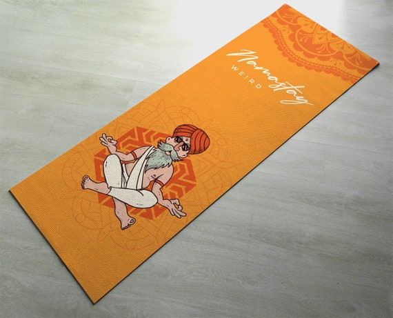 Namastay Weird Funny Yogi Yoga Mat Fitness Mat Cute Orange Etsy