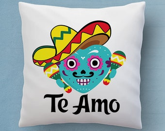 Free Shipping Worldwide - Te Amo Pillow - Say I Love You In Spanish - Cute Mexican Decorative Pillow 18x18 inches