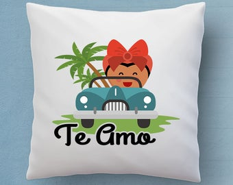 Free Shipping Worldwide  - Te Amo Pillow - Say I Love You In Spanish - Cute Decorative Pillow 18x18 inches