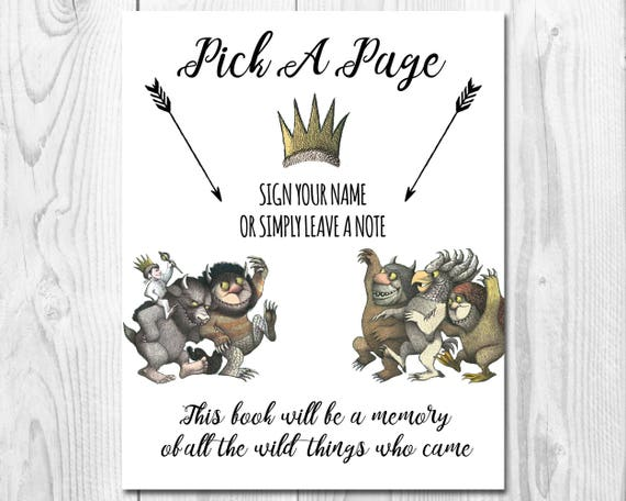 It is a photo of Impertinent Where the Wild Things Are Printables for Free
