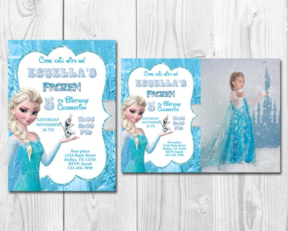 image regarding Frozen Birthday Card Printable titled Frozen Birthday Invitation, Elsa, Anna, Olaf Invitation, Printable Frozen Invitation, Frozen Social gathering Invitation,Disney Frozen invitation,WS032